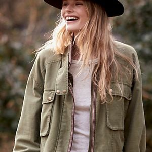 Free People Flight Line Bomber, new with tags, S
